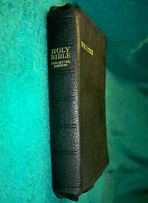 Vintage, Collins KJV Bible, License 1949, Genuine Leather, C C Refs, Helps, R L