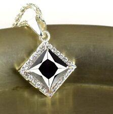 Black Diamond 6.11 Ct Solitaire Pendant 925 Sterling Silver