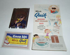 1950's Lone Ranger Nestle QUIK Sample Pack & flyer from Canada cocoa mix