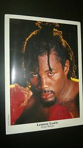 BOXING MEMORABILIA LENNOX LEWIS  HEAVYWEIGHT CHAMPION.Twice Signed Special Card