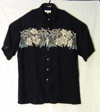 Pierre Cardin Mens Large Hawaiian Tropical Polo Short Sleeve Shirt Fishing L