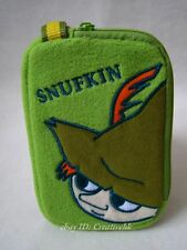 The Story of Moomin Valley Snufkin Green Plush Card Holder w/ Charm Zipper (NEW)