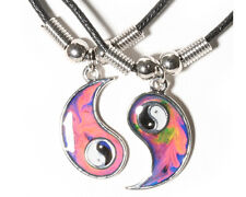 BFF Sensitive MOOD Changing Ying Yang Sign Pendants 2 Necklaces Friendship Yin