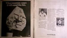 "1977 THE ALAN PARSON PROJECT ""I ROBOT""  ALBUM PROMO (2 PG) AD"