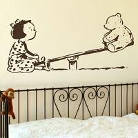 SeeSaw Nursery Wall Transfer / Removable Baby Decor / Nursery Wall Sticker nin18