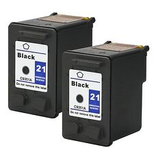 2PK HP 21 Black Ink Cartridge For Deskjet D1311 D1455 D1460 D1470 D2320 D2445