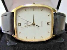 Omega De Ville Gold plated Solid Stainless Quartz Mens Watch FOR REPAIR OR PARTS