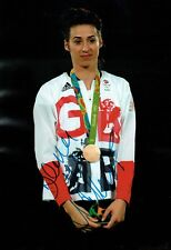 Bianca WALKDEN Taekwondo Olympics Autograph Signed 12x8 Photo 1 AFTAL COA