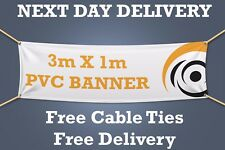 3M x 1M - PVC BANNERS PRINTED OUTDOOR SIGN VINYL BANNER  - NEXT DAY DELIVERY -