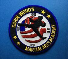 Rare Darin Woods Martial Arts Academy MMA Uniform Gi Patch Crest 553