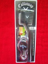 Callaway V Golf Accessory ~ Club Brush With Durable Retractable Cord ~ Brand New