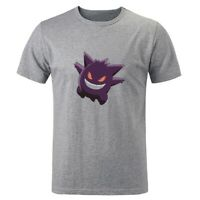 Pokemon go Pikachu Gengar Design Mens Boys Print T-Shirt Graphic Tee Shirts Tops