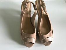 Señoras tamaño 6 color nude Punta Abierta Zapatos