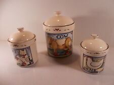 Lot Of 3 Susan Winget Country Canister Cookie Jars Soft Plastic Gasket Seal