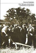 Farm History Brochure - John Deere 150 years Grand Detour site - 2 item (F5084)