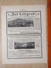 Bad Kohlgrub, Stahl- und Eisenmoorbad. Ganzseitiger Druck anno 1900 auf Blatt