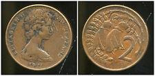 NOUVELLE ZELANDE 2 cents  1971