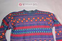 LIZWEAR KABEL WINTER CRAZY Pullover BAUMWOLLE Gr M Herren (Etikett S)