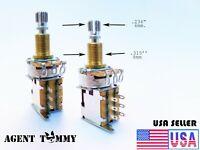 Potentiometer guitar or bass volume pot Push Push 500k  8mm. shaft (2 PIECE SET)