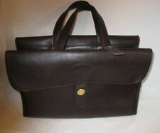 Vintage COACH Bonnie Cashin Pre-Creed Mocha Leather Double-Sided Briefcase/Tote