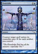 Override X4 EX/NM Mirrodin MTG Magic Cards Blue Common