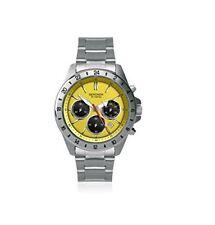 Sekonda Men's Chronograph Yellow Dial Stainless steel Bracelet Watch 1143