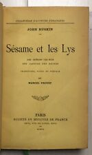 EO 1906 MARCEL PROUST SUR LA LECTURE in J.Ruskin Sésame et les Lys