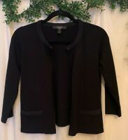 Weekend Max Mara Black Cardigan Sweater Front Pockets Womens Small Perfect Cond.
