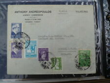 ANTHONY ANDREOPOUULOS AGENCY COMMISION TURKEY POSTALLY USED COVER TO ENGLAND