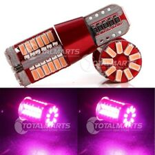 2X Pink Purple T10 168 194 921 W5W CANBUS Error Free 3014 57SMD LED Light Lamp
