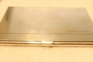 Tiffany & Co. Sterling Silver Calling Card Case Spain BT1158