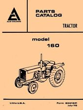 ALLIS CHALMERS 160 One Sixty Parts Catalog Manual