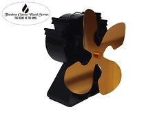 VICTORY 4 Blades Heat powered wood Heater/combustion/ stove Eco Fan Ecofan- Gold