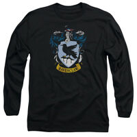 Harry Potter RAVENCLAW CREST Licensed Adult Long Sleeve T-Shirt S-3XL