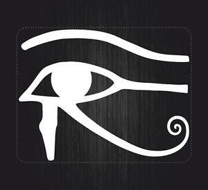 Autocollant sticker voiture moto œil horus egypte symbole blanc