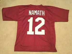 UNSIGNED CUSTOM Sewn Stitched Joe Namath Crimson Jersey - M, L, XL, 2XL