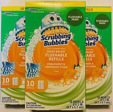 Scrubbing Bubbles Toilet Cleaning Flushable Refills Citrus (3) 10 Count Boxes