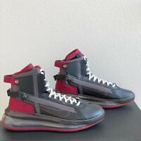Nike Air Max 720 Saturn Mens Size 9 Black Team Red Shoes Sneakers AO2110-004