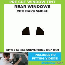 Pre Cut Window Tint - BMW 3 Series Convertible 1987-1989 - 20% Dark Rear