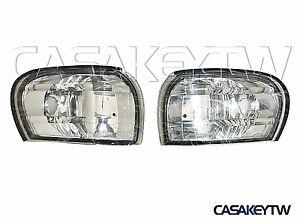 NEW Crystal Clear Corner Lights Lamps 1995 - 2000 E-MARK For Subaru IMPREZA GC8
