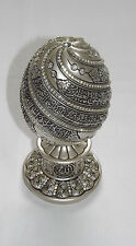 PEARL COLOR EGG SHAPED AYATUL-KARSI CLEAR CRYSTAL MOLDED ORNAMENT PERFECT FOR GI
