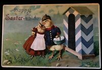 Dressed Romantic~Soldier Chicks~Guard  House~Fantasy~Easter Postcard--p808