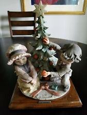 Giuseppe Armani Boy & Girl around Christmas Tree!