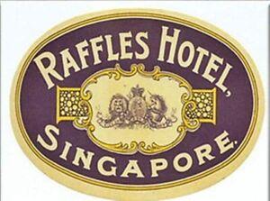 Raffles Hotel Singapore  fridge magnet (rr)  +++ REDUCED TO CLEAR - DAMAGED +++