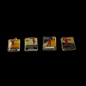 1992 Barcelona Summer Olympics Lot of 4 Kodak Pins Diving Volleyball Basketball