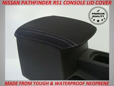 NISSAN PATHFINDER R51 NEOPRENE  CONSOLE LID COVER (WETSUIT MATERIAL) 2005 - 2013