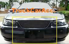 For FORD Mustang 1999-2007 2PC Black Grille REPLACEMENTS Upper w/o Logo+Bumper