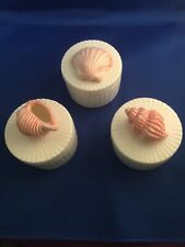 Fitz and Floyd Shell Trinket Boxes Trio