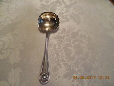 """ANTIQUE WHITING STERLING SILVER """"BEAD"""" PATTERN SIFTING SPOON..NOT MONOGRAMMED"""