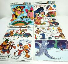4 Disney Mickey Mouse Window Decoration Sheets Cling Holiday Christmas Toy